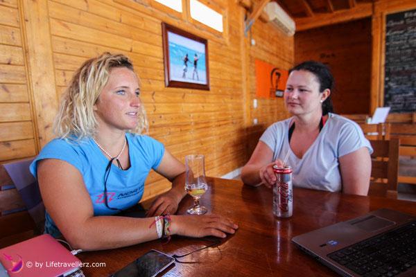Intervie mit Paula Novotna im 7bft Kitehouse, Somabay