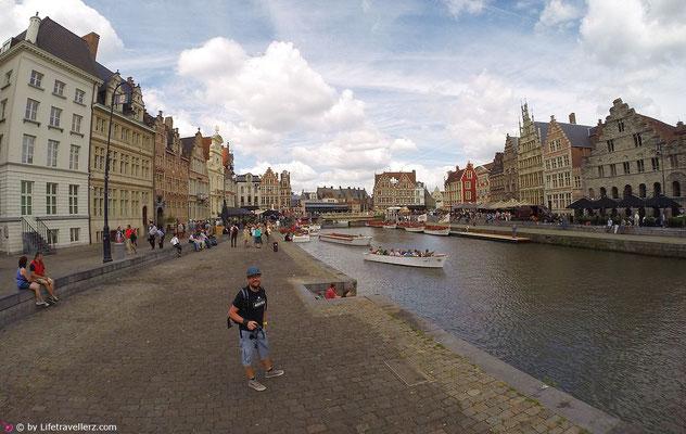 Das Stadtzentrum von Gent