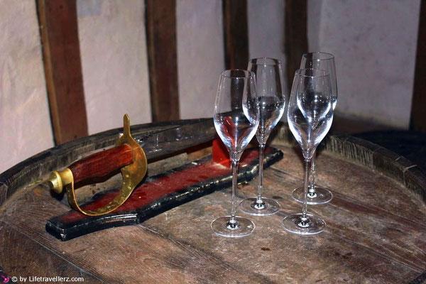 Weinkeller im Kartäuserkloster in Slowenien