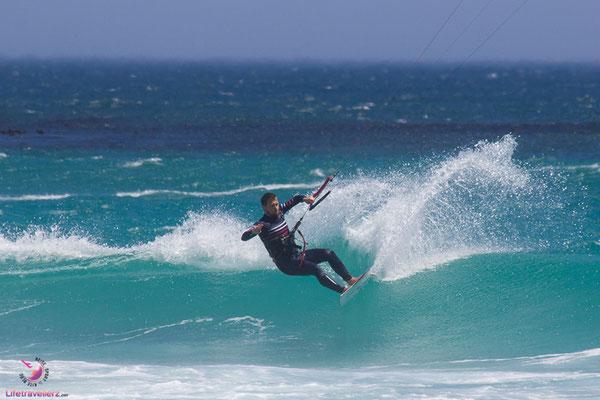 Wavekiten in Südafrika