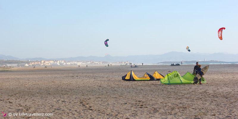 Kitesurfen in Tarifa - Kitespot Landebahn