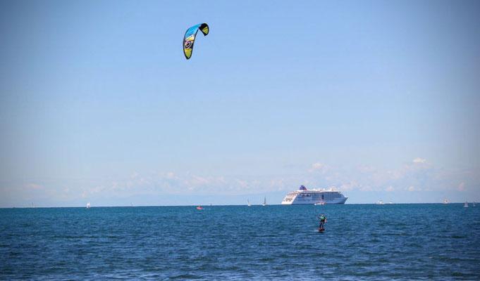 Kitesurfing Portoroz Slowenien - Kitefoil  - MS Europa 2