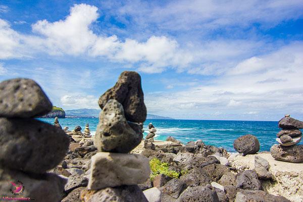 Steinstrand auf den Azoren