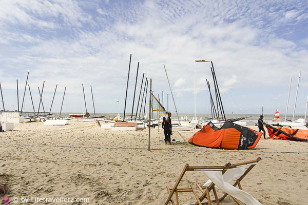 Kitesurfen in Flandern, Belgien