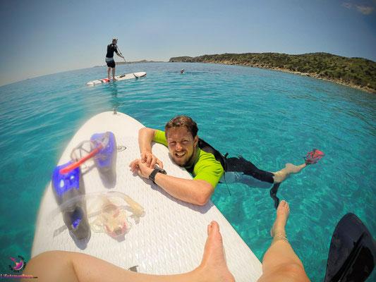 Stand-Up-Paddling auf Sardinien