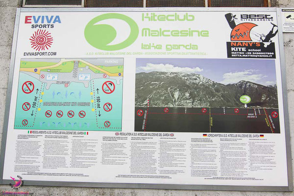Kitesurfspot Lago di Garda, Malcesine Kiteclub - Kiteregeln