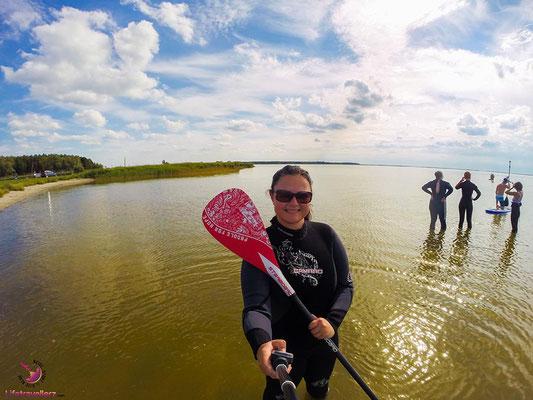 Kitesurfen lernen - Saaler Bodden Ostsee