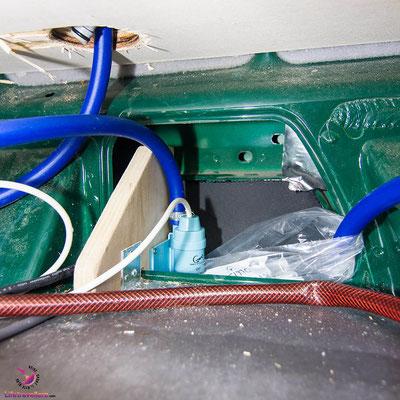 Die Dusche im VW Bus - Warmwasseranlage