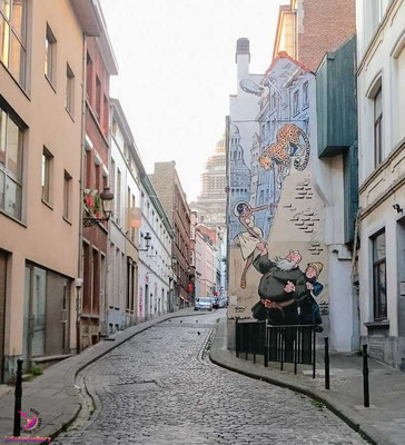 Gasse beim Sightjogging in Brüssel by Lifetravellerz