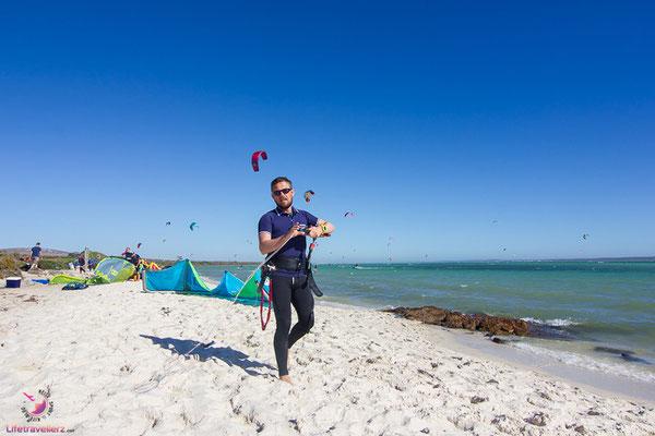 Langzeitreisen und Fernreisen - Kitesurfen in Südafrika