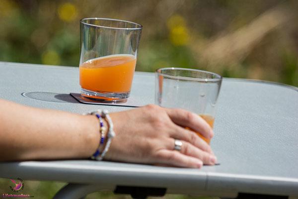 Beim Campen unterwegs mit den rutschfesten Gläsern von silwy magnetic drinkware