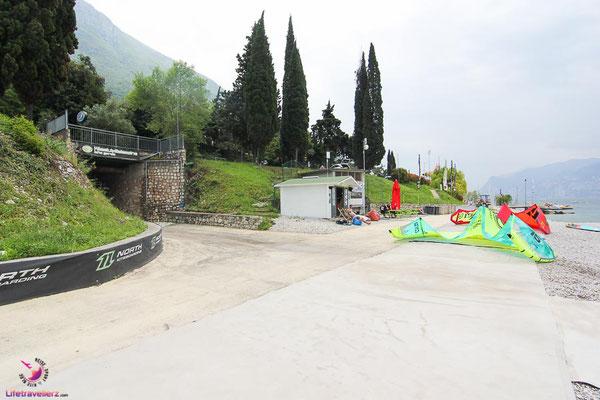 Kitesurfspot Lago di Garda, Malcesine Kiteclub - Tunnel