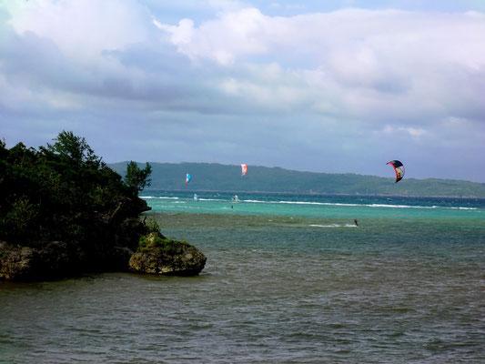Kitesurfer auf Boracay Phillipinen