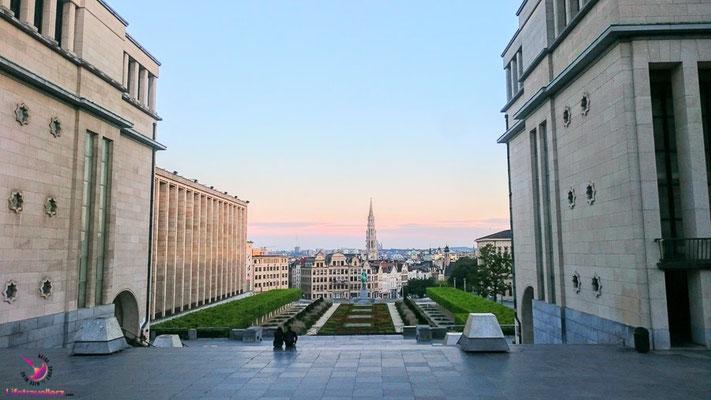 Ausblick beim Sightjogging in Brüssel by Lifetravellerz