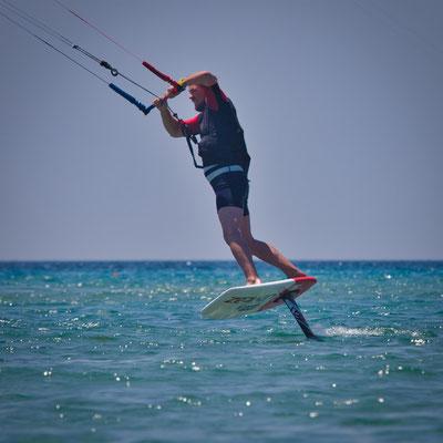 Kitefoilen auf Korfu - Chalikounas Beach