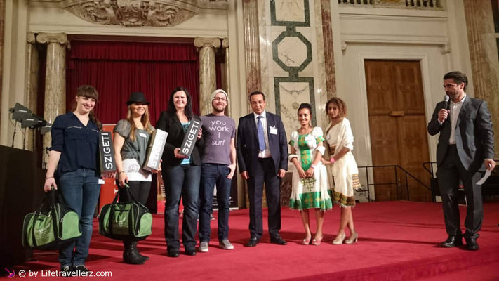 Die Gewinner des ReisebloggerSlam am Reisesalon in Wien