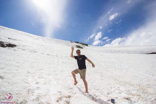 Schnee am Timmelsjoch im Juni