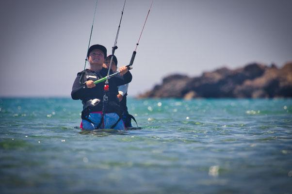 Kitesurfen lernen auf Korfu