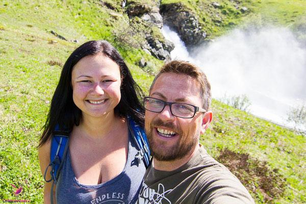 Melanie und Juergen von Lifetravellerz.com in Galtür