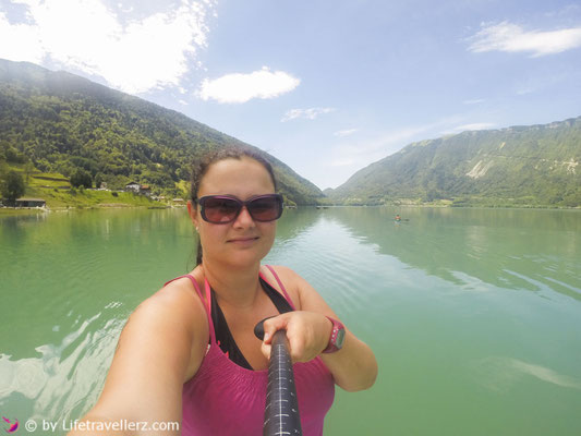 Stand Up Paddling am Lago di Santa Croce