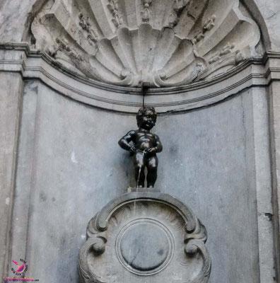 Mannequin Pis beim Sightjogging in Brüssel by Lifetravellerz