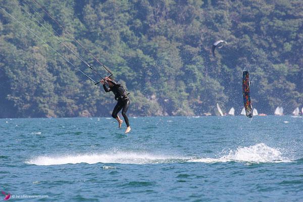 Kitesurfen am Lago di Como