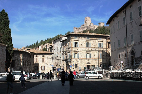 Innenstadt von Assisi in Italien
