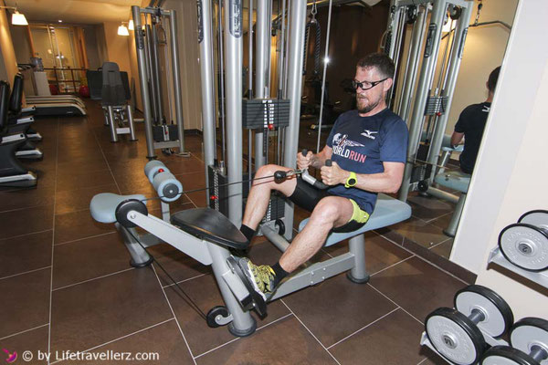 Roadtrip durch Italien, Hotel Aqualux, Fitness Center
