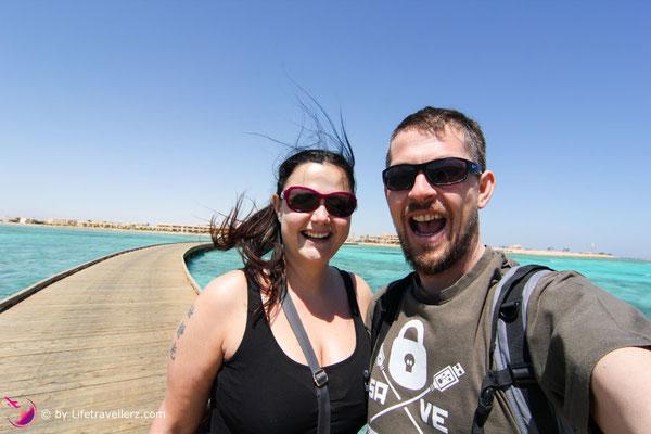 Spaß haben am Hausriff im Hotel The Breakers, Somabay, Ägypten