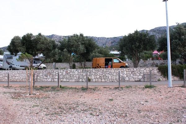 Campingplatz auf Peksejac