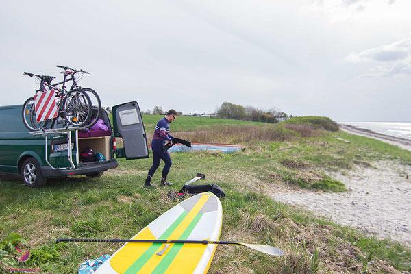 Der Kitespot in Skastrup Strand/Middelfart