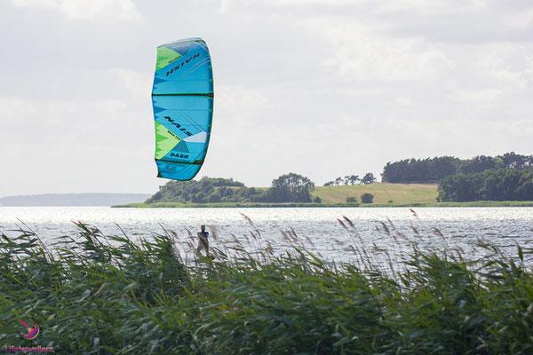 Reise auf die Ostseeinsel Usedom - Kitesurfen am Achterwasser
