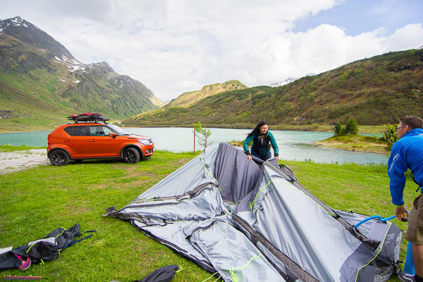 Outwell Vorzelt am Campingplatz Zeinisee in Galtür