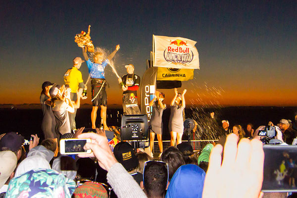 Siegerehrung beim King of the air 2017 in Big Bay