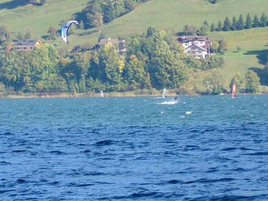 Kitesurfen Mondsee, Nebelwind