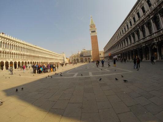 Markusplatz in Venedig mit GoPro