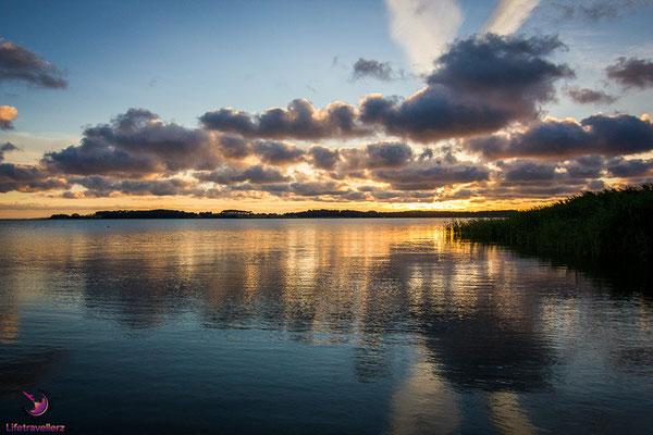 Reise auf die Ostseeinsel Usedom - Sonnenuntergang