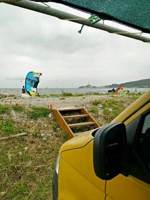 Kitespot Talamone in der Toskana