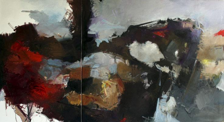 Ohne Titel, 2011, Öl auf Leinwand, 120x210, Ernst & Young Frankfurt/Main