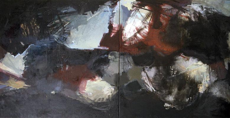 Ohne Titel, 1997, Öl auf Leinwand, 140x240