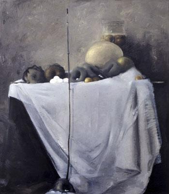 Großes Stillleben, 1983, Öl auf Leinwand, 150x120
