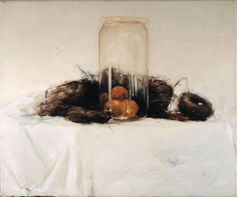 Stillleben mit Glas 2, 1980, Öl auf Leinwand, 60x80, Privatbesitz