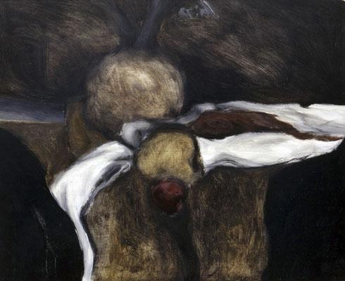 Stillleben, 1975, Öl auf Sperrholz, 21x26
