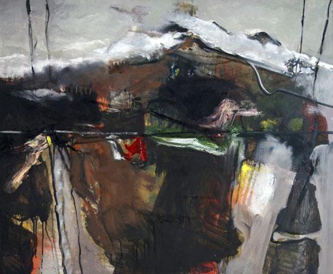 Landschaft, 2017, Öl auf Hartfaserplatte, 110x130, Privatbesitz