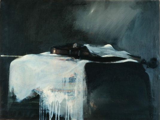 Geige 2, 1979, Öl auf Leinwand, 68x91