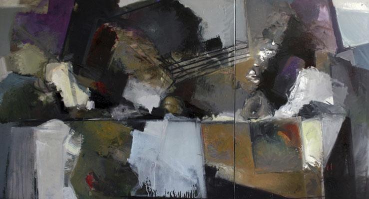 Ohne Titel, 2010, Öl auf Leinwand, 140x210, Ernst & Young Frankfurt/Main