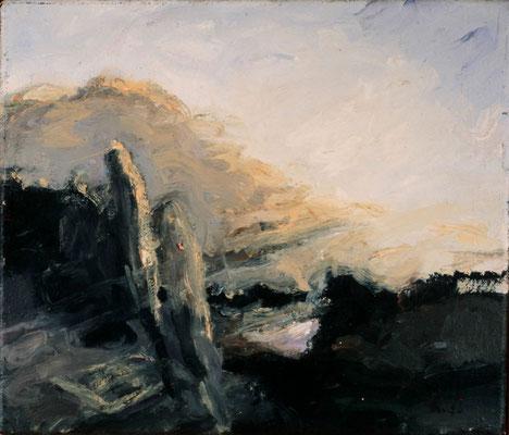 Reine Landschaft, 1979, Öl auf Leinwand, 30x35