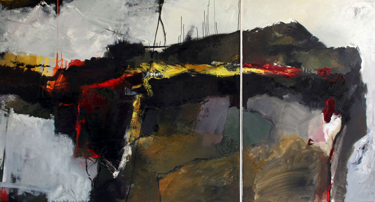 Huy Landschaft, 2003, Öl auf Leinwand, 140x210, Land Sachsen-Anhalt