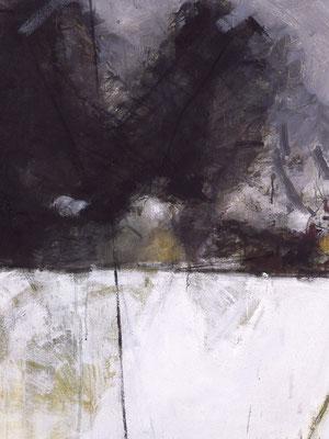Zwei Nester, 1990, Öl auf Leinwand, 140x120, Privatbesitz