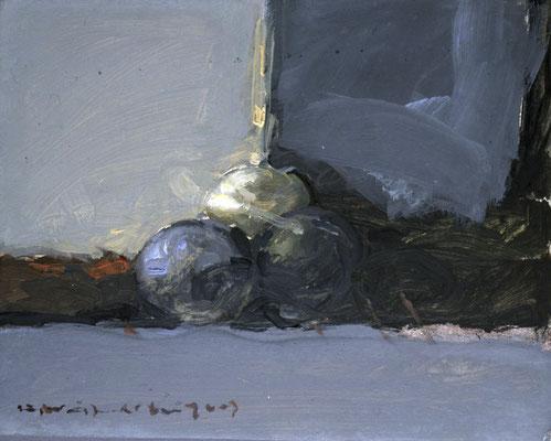 Kleines Stillleben, 1987, Öl auf Holz, 30x35, Privatbesitz